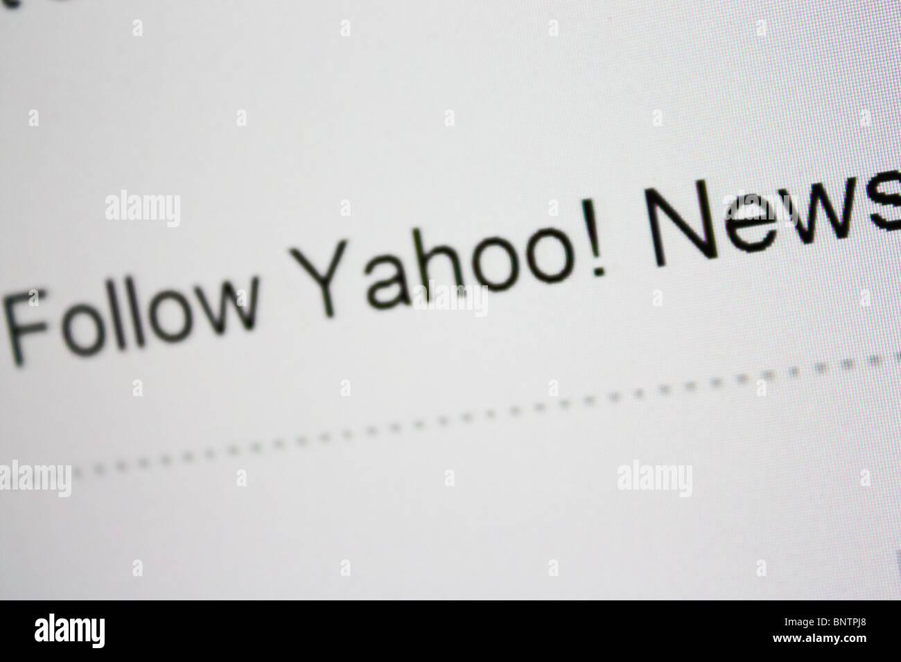 Seguire yahoo notizie Immagini Stock