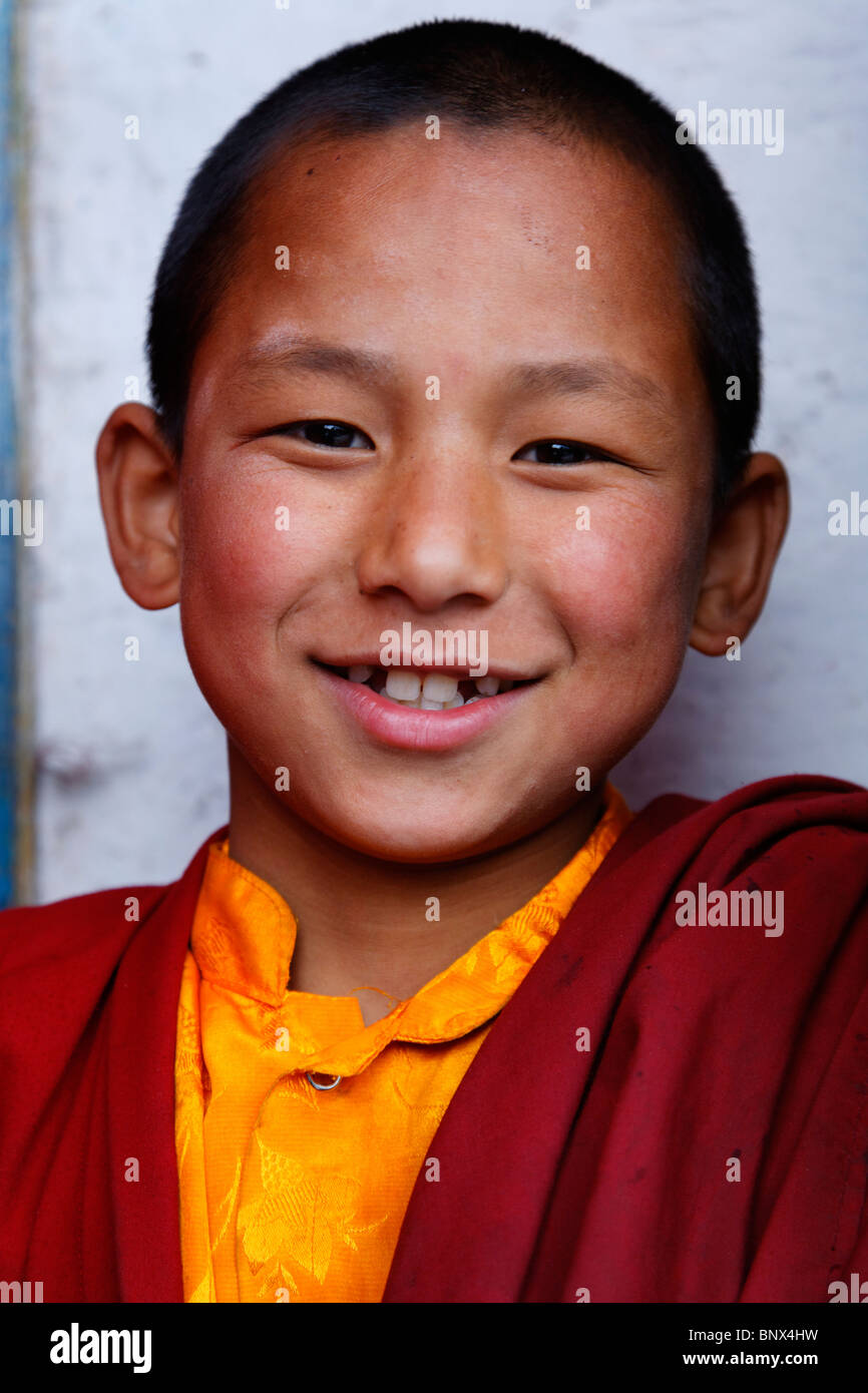 India - Sikkim - il buddista Phodong Monastery - monaco novizio Immagini Stock