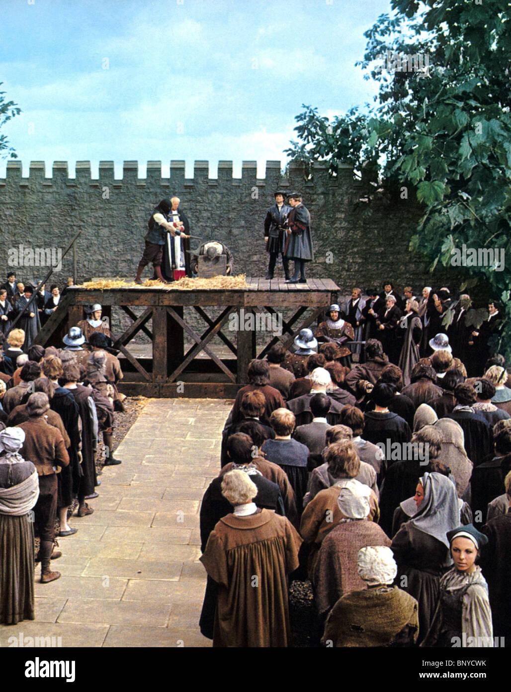 Scena di esecuzione di un uomo per tutte le stagioni (1966) Immagini Stock