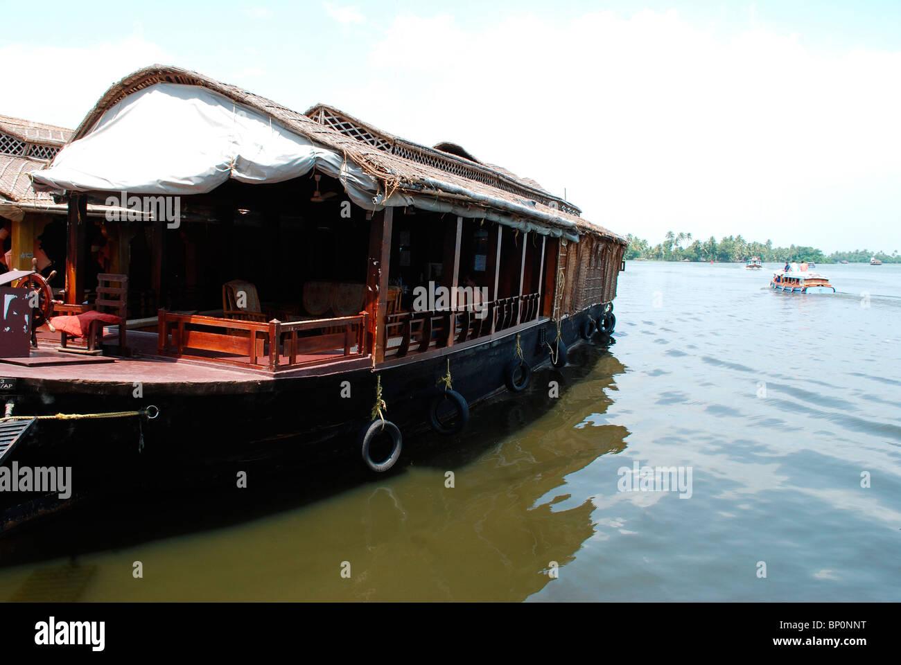 Una barca casa dal Kerala backwaters ; india Immagini Stock