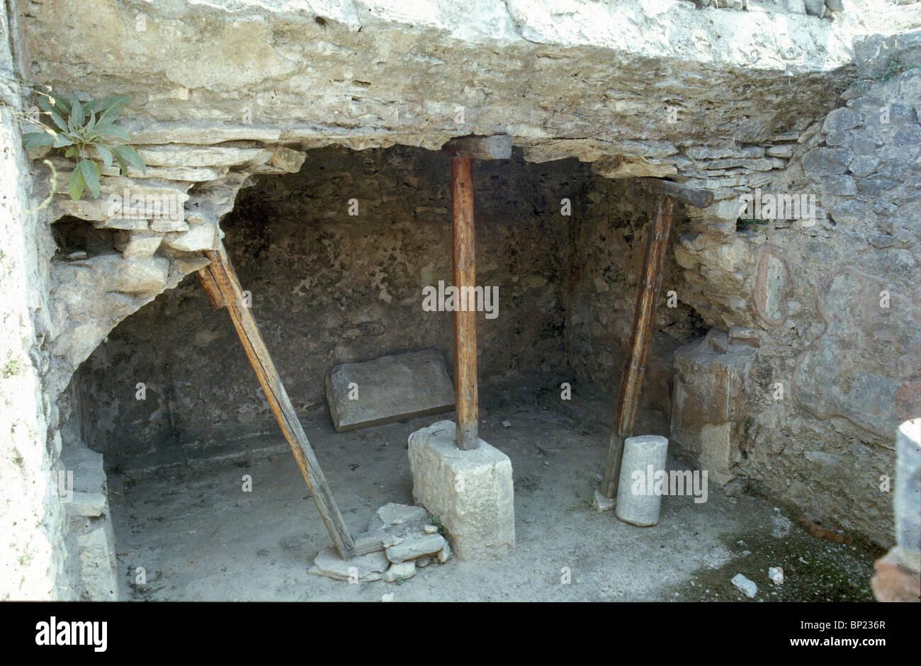 Filippi rovine dell antica chiesa di Filippi costruita sul sito che si pensa sia stata la prigione dove Paolo è Immagini Stock