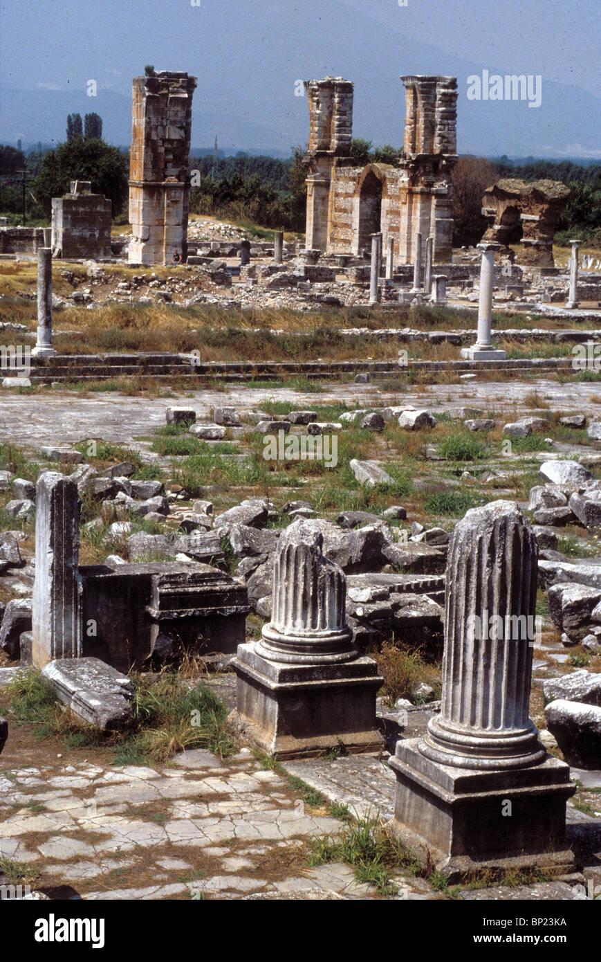 Rovine di antiche città della Grecia settentrionale. Paolo ha visitato la città durante la sua prima missione Immagini Stock