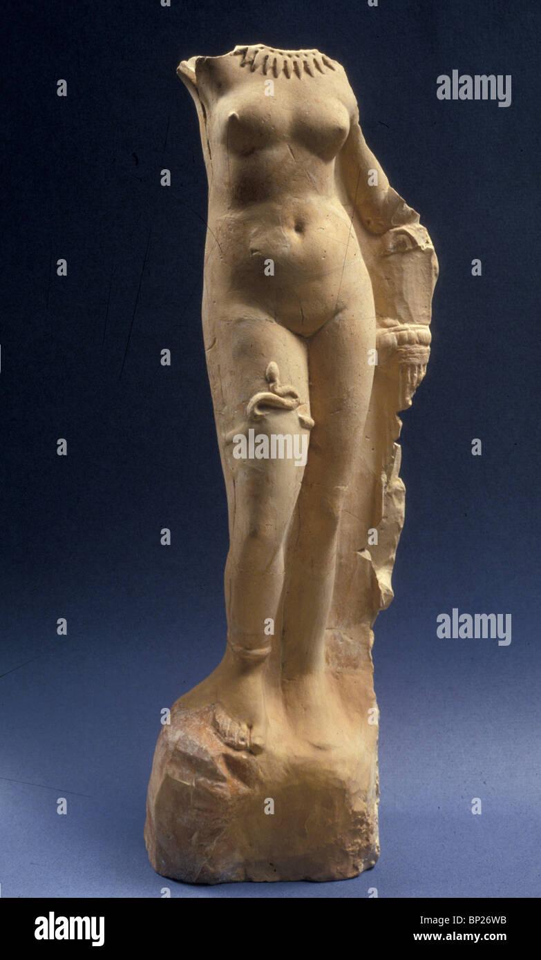 1268. EPHRODITE, PERIODO HELENISTIC figurina trovata su MT. Il carmelo Immagini Stock
