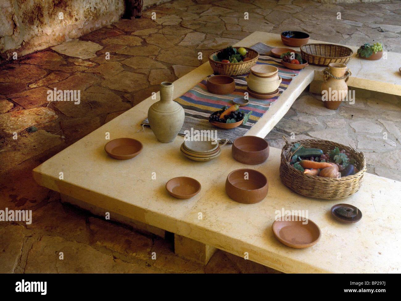 2768. Modello di un periodo romano Disposizione tavolo Immagini Stock