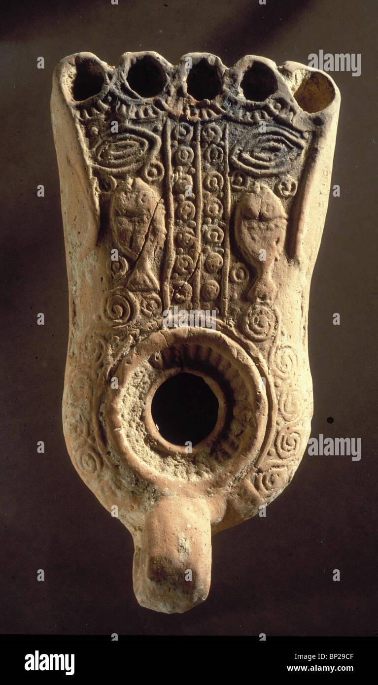 2918. EARLY-olio bizantino-spia con il simbolo cristiano di pesci Immagini Stock