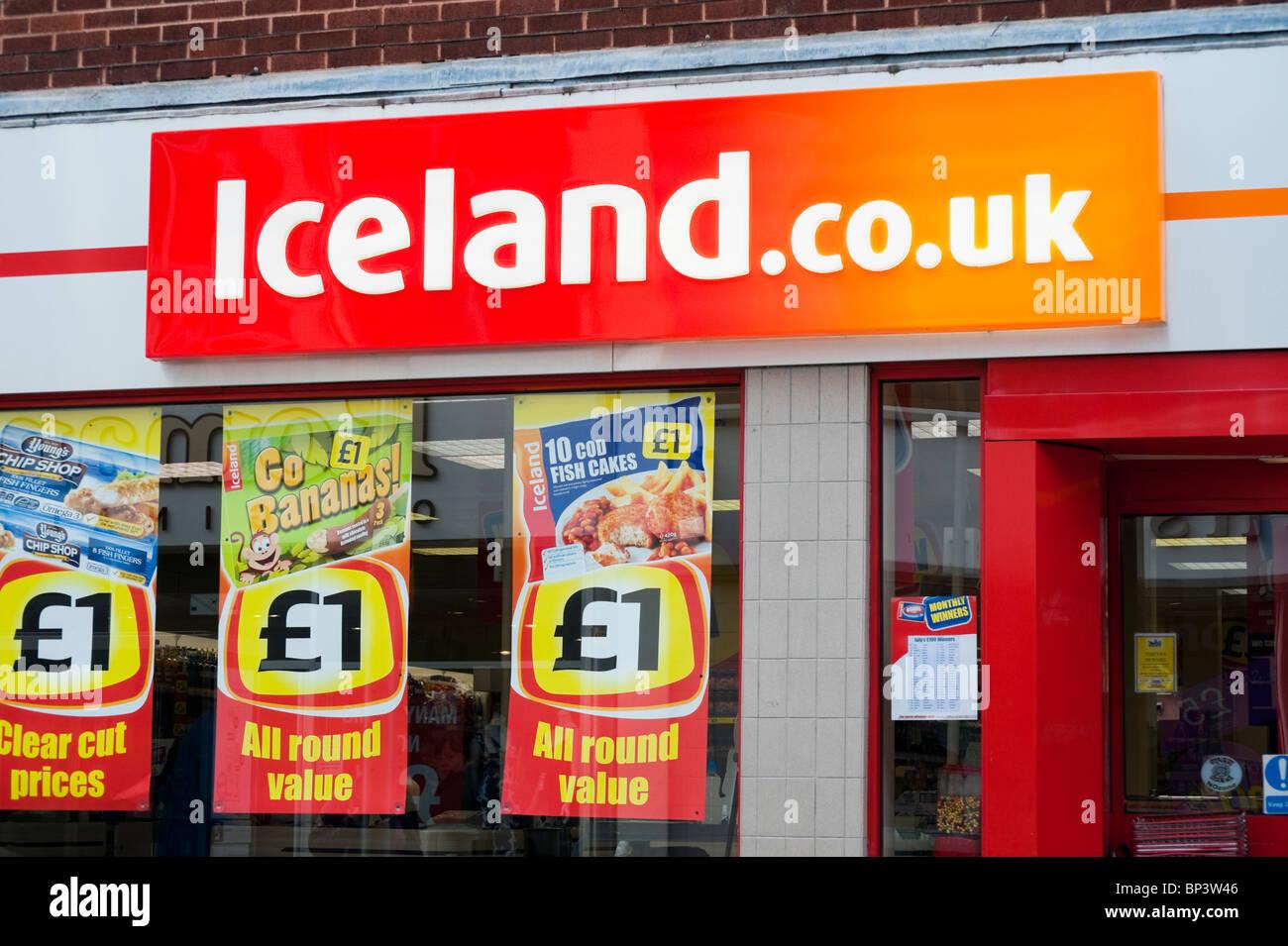Islanda surgelati shop in Hereford, Regno Unito. Islanda store esterno. Immagini Stock