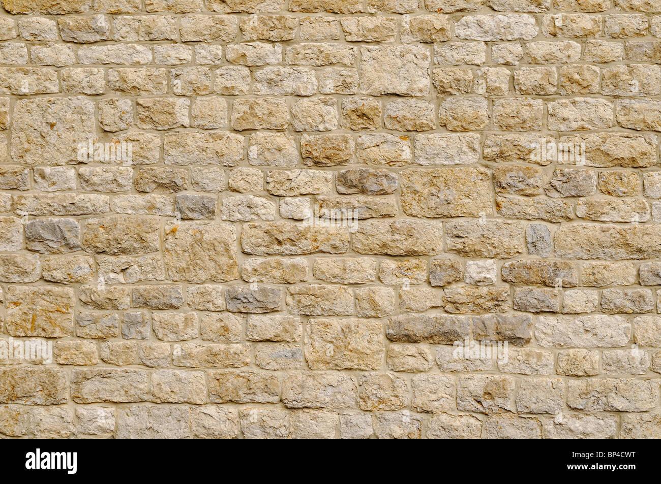 Muro di pietra, vicino. Immagini Stock