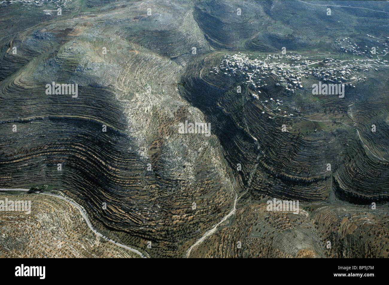 3653. SAMARIA - La collina a nord del paese di Gerusalemme, ALOTED per la tribù di BINJAMIN Immagini Stock