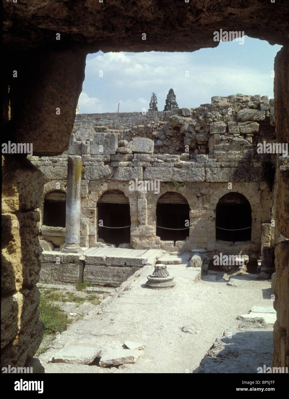 Corinto i resti archeologici della città greco-romana che Paolo ha visitato per la sua prima missione dopo Immagini Stock