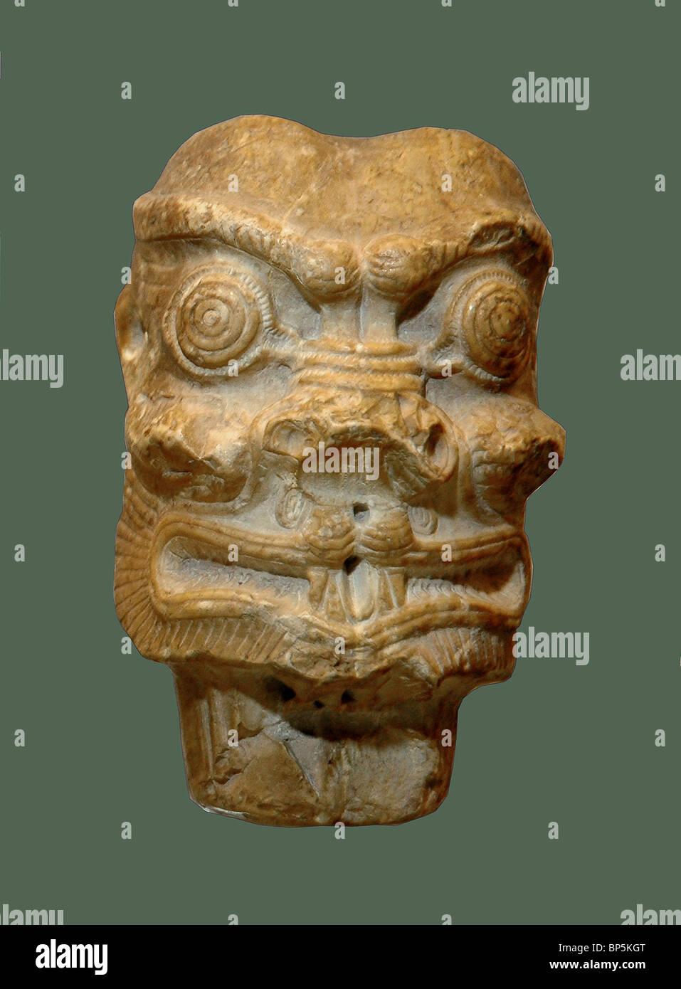 """5234. Immagine di terracotta del demone Pazuzu, """"re degli spiriti"""", Mesopotamia, C.8-7Th. C.BC. Immagini Stock"""
