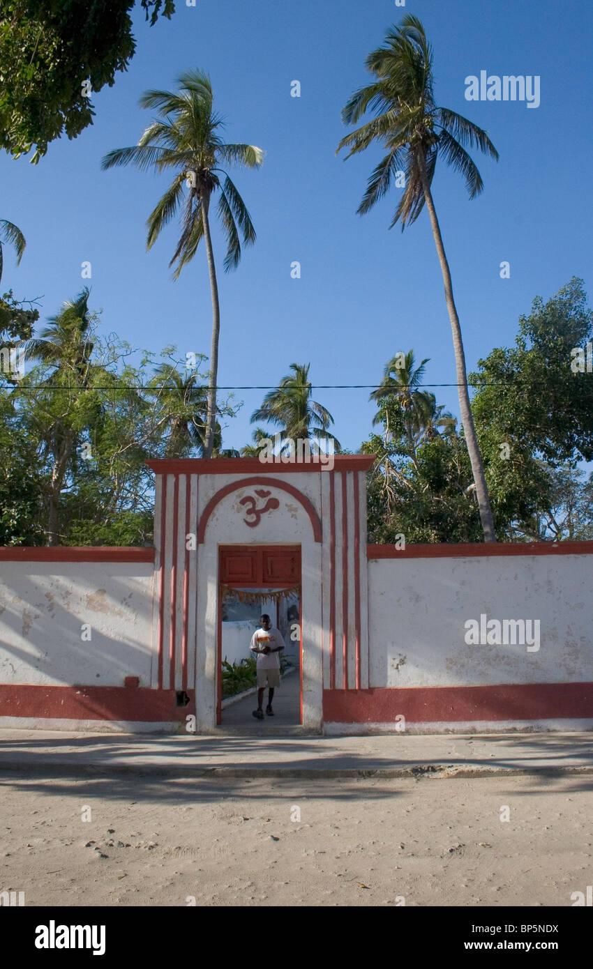 Ingresso al tempio indù su Ilha de Mozambico Mozambico Immagini Stock