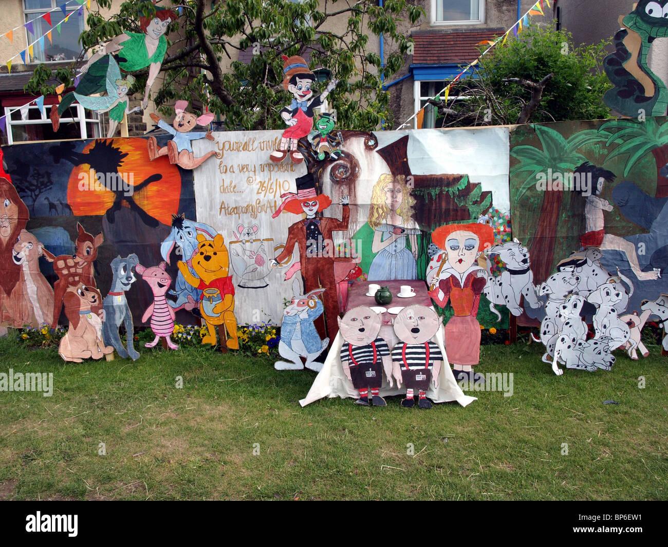 Una mostra a le scie settimana alla speranza,Derbyshire,UK. Immagini Stock