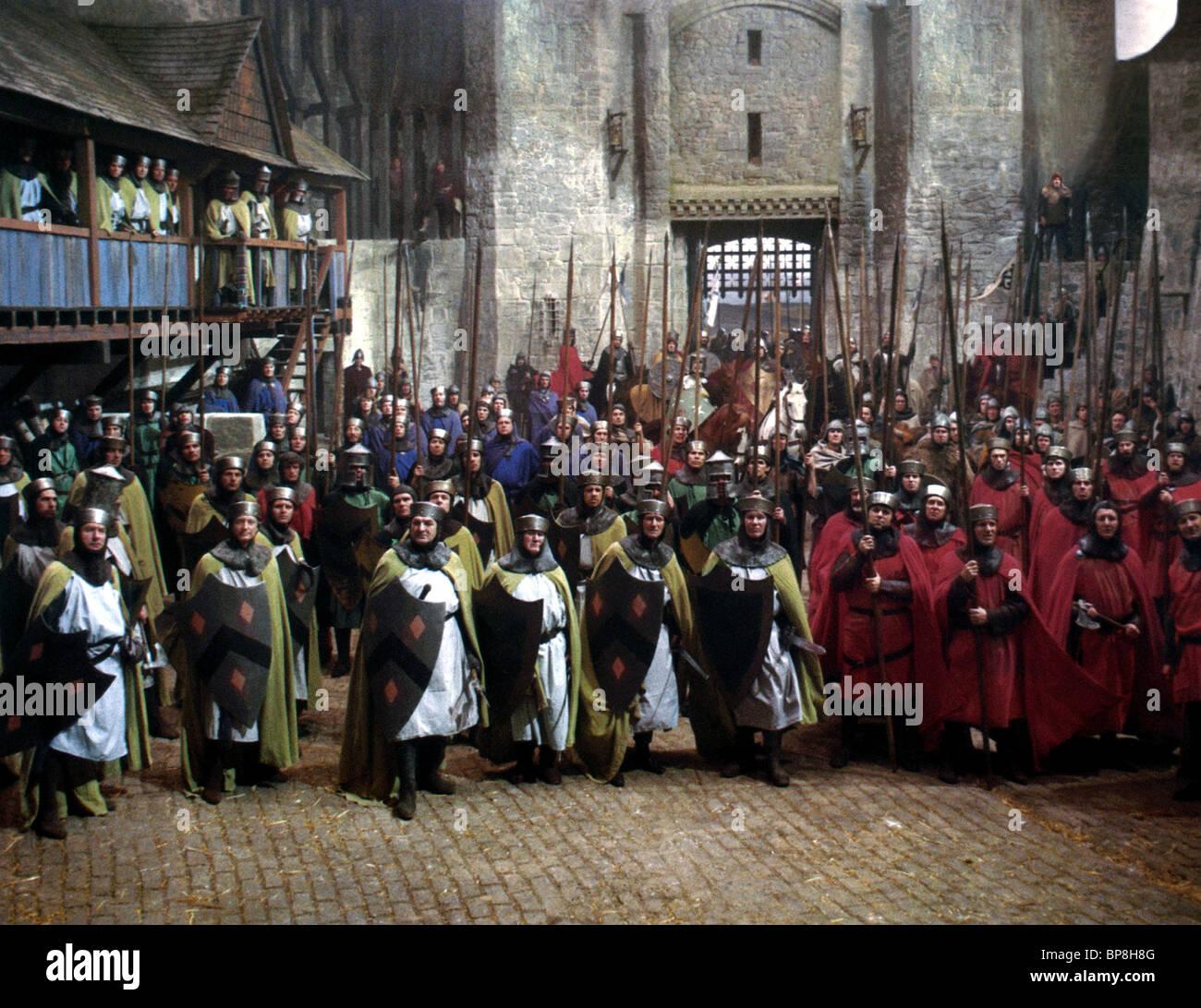 Soldati medievali LA TRAGEDIA DI MACBETH (1971) Immagini Stock