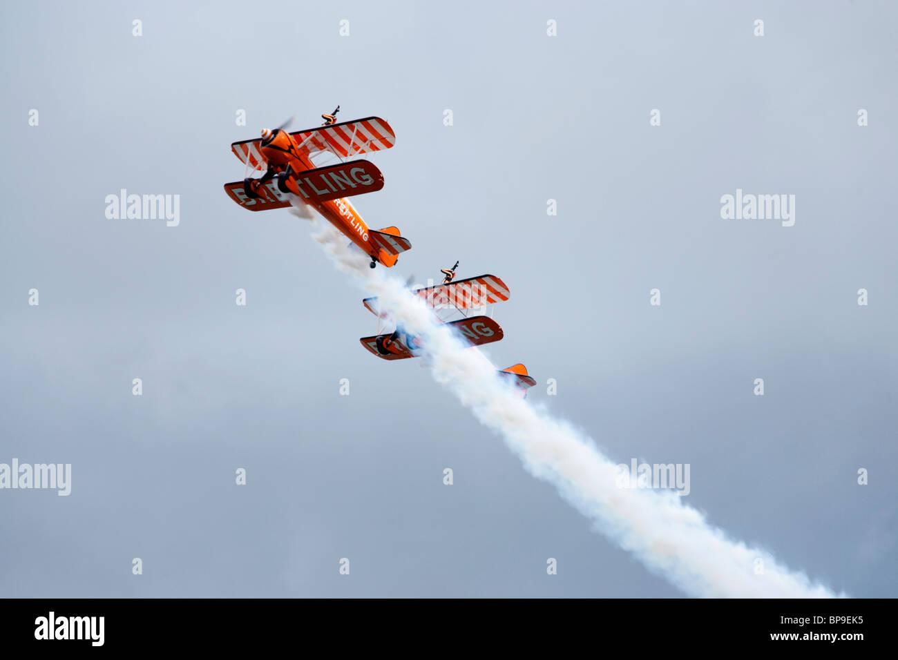 Breitling team biplanare Immagini Stock