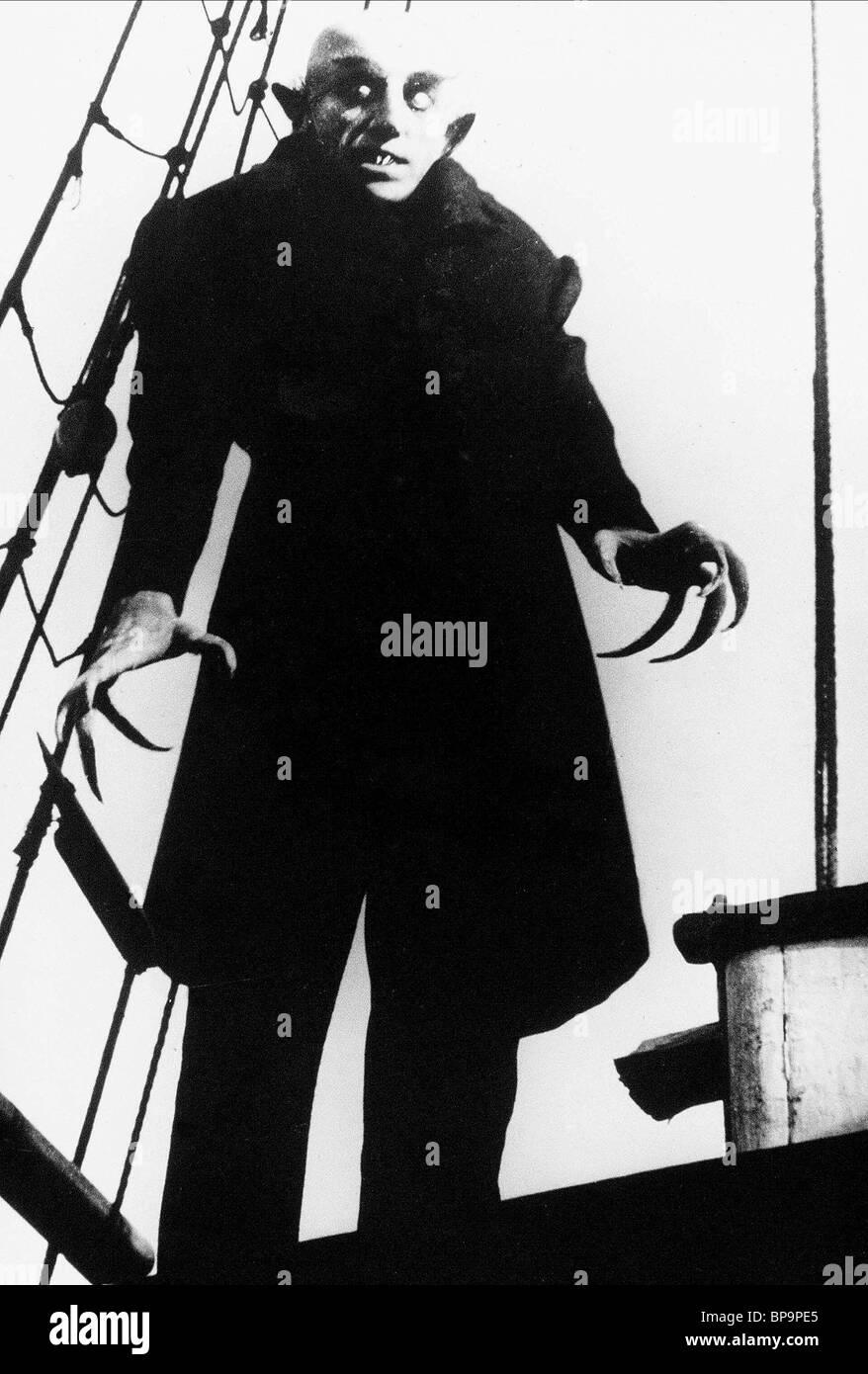 MAX SCHRECK Nosferatu il vampiro (1922) Immagini Stock