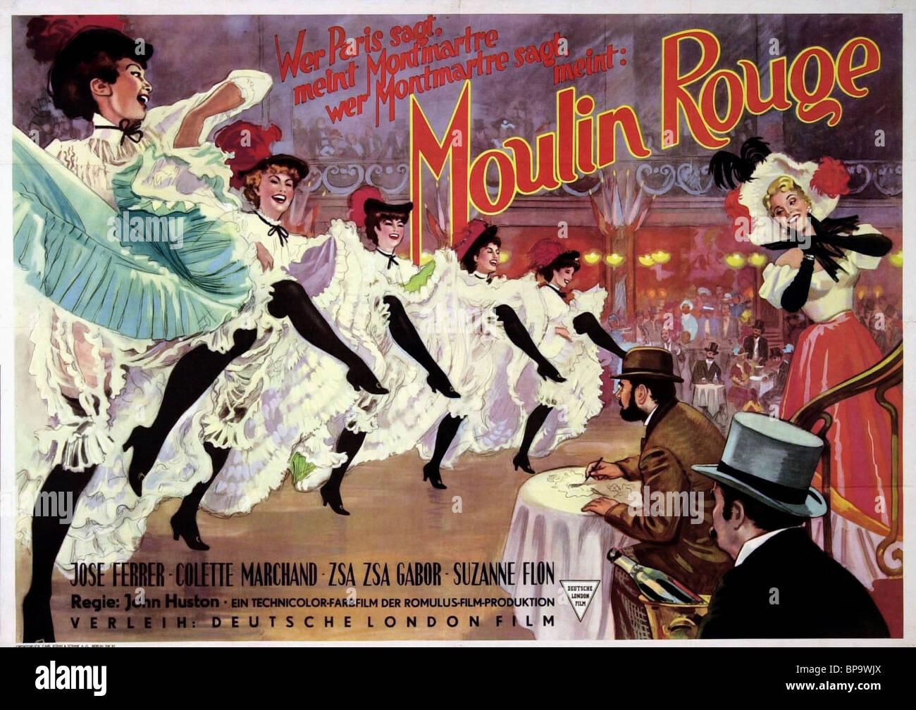José Ferrer, ZSA ZSA GABOR FILM POSTER, Moulin Rouge, 1952 Immagini Stock