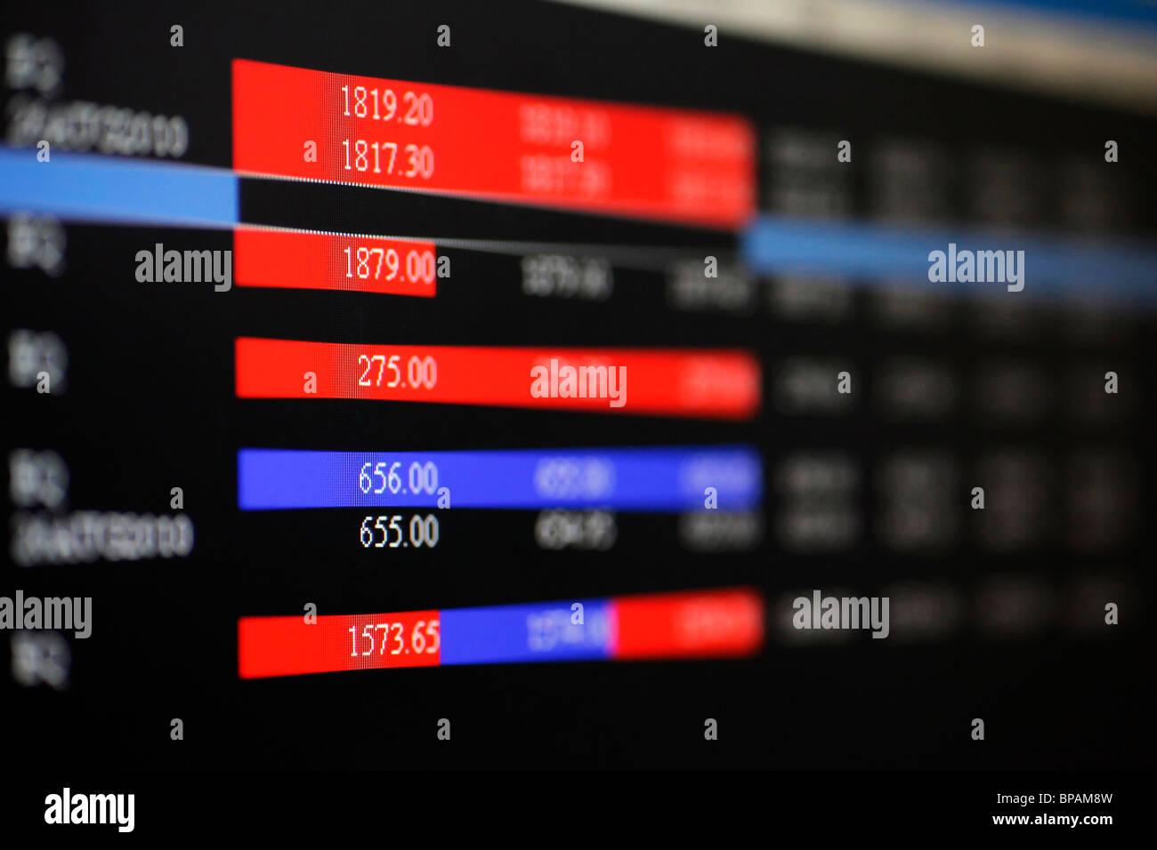 1d8bc757a2 Il mercato azionario quotazioni online. Immagini Stock