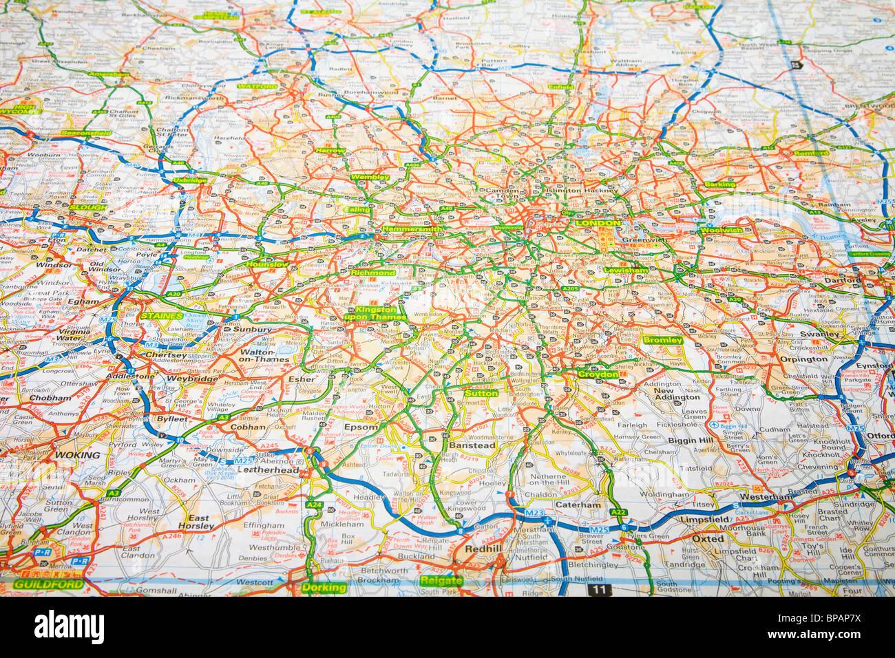 Cartina topografica Londra