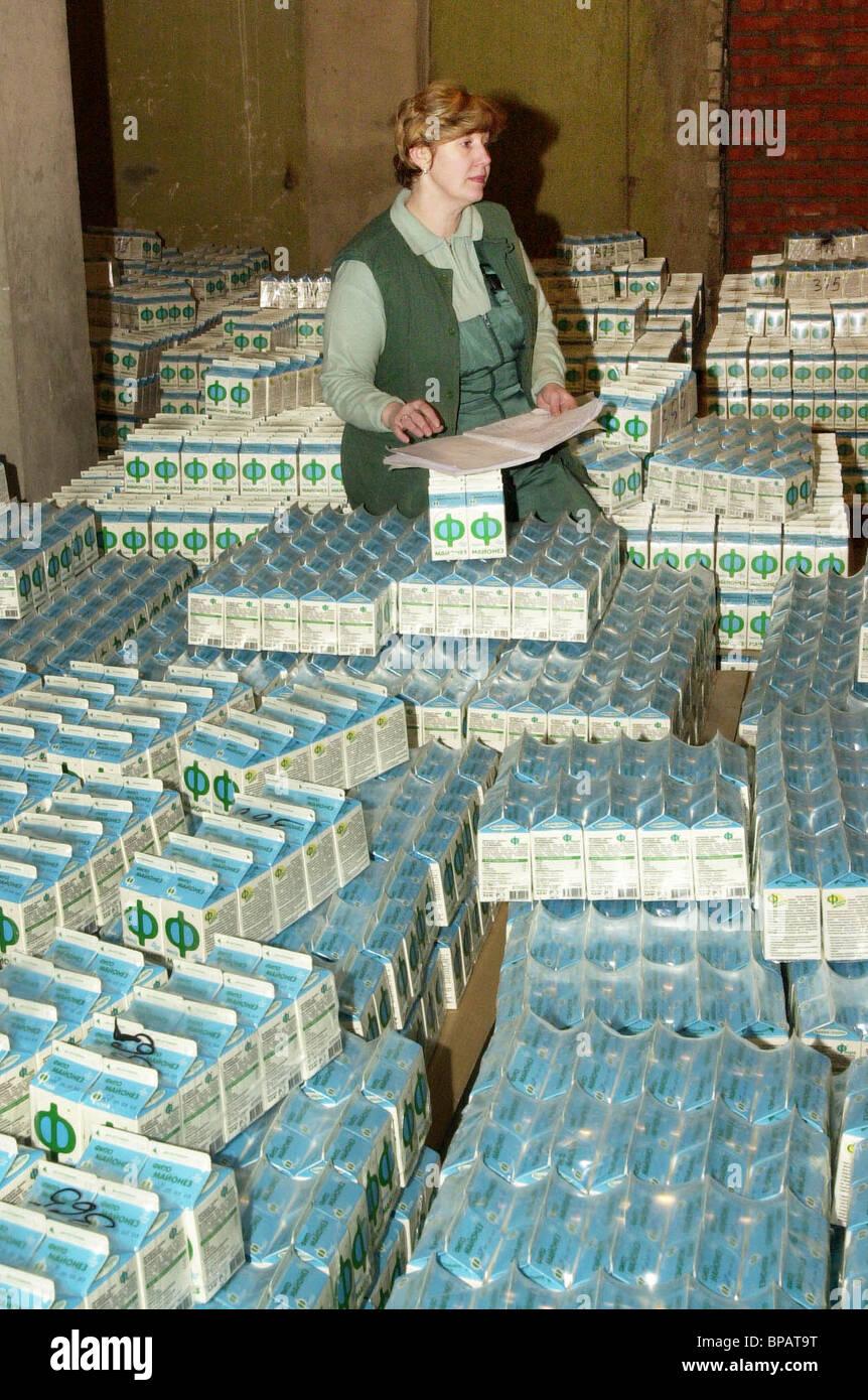 Il volume di prodotti di soia è aumentata in Mosca Immagini Stock