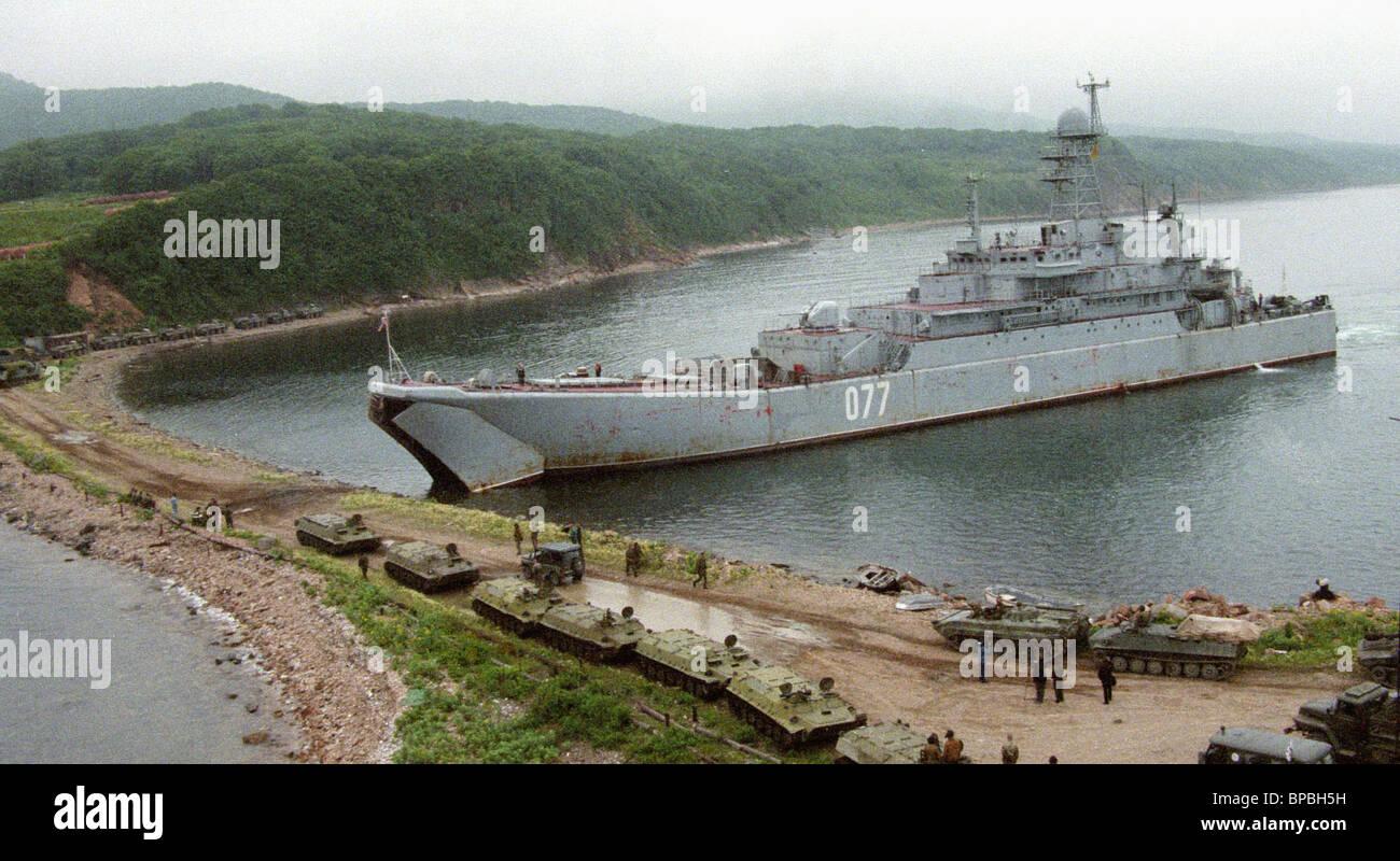 Grandi esercitazioni militari della flotta del Pacifico Immagini Stock