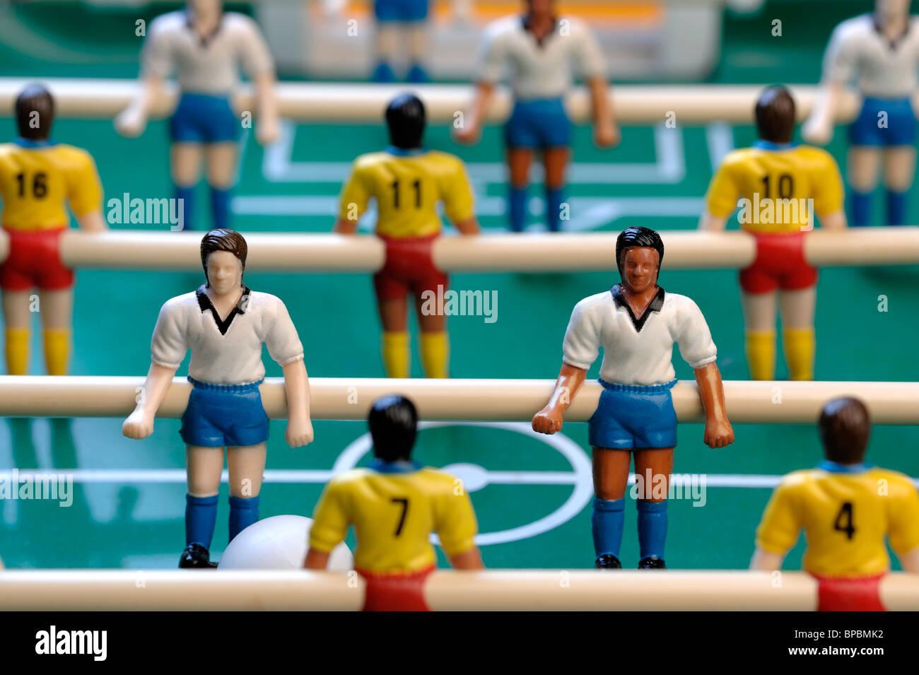 Tabella i giocatori di calcio Immagini Stock