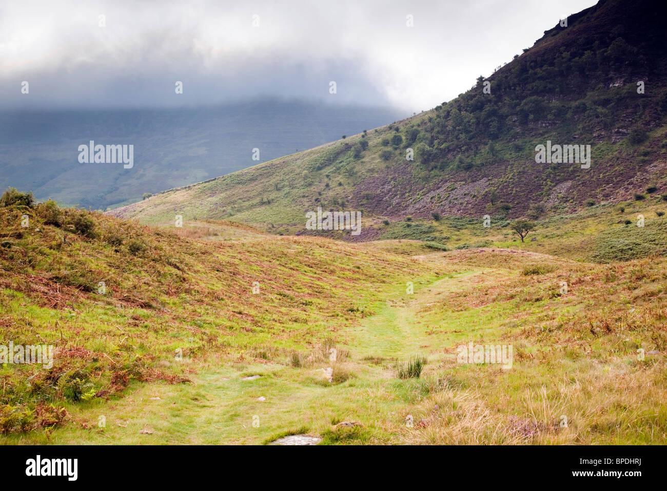 Craig Cerrig Gleisiad una ventola Frynich NNR; Brecon Beacons; Galles Immagini Stock