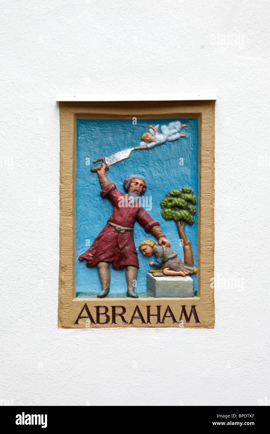 Le compresse di biblico in il Begijnhof di Amsterdam Foto Stock