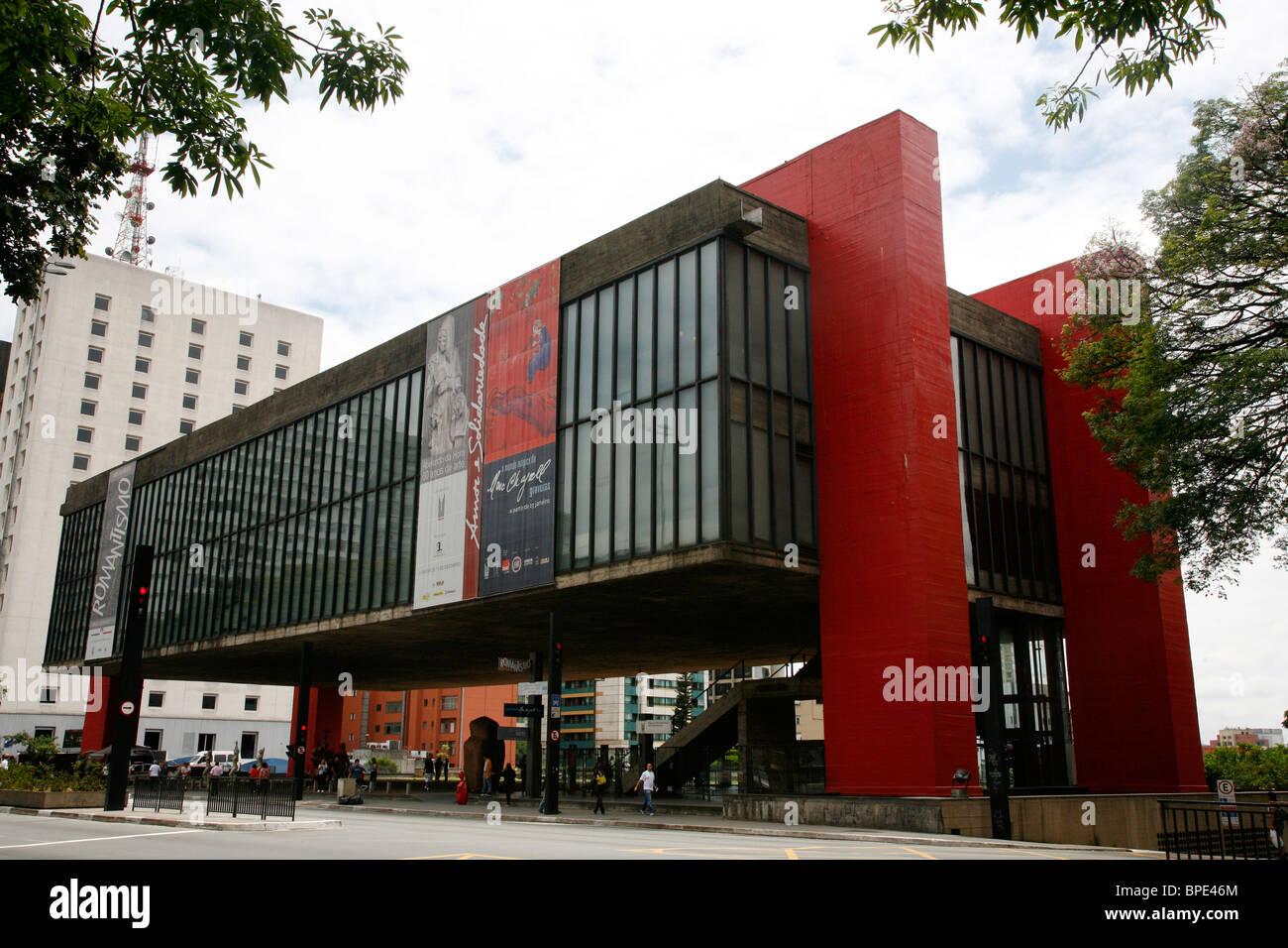Il Museu de Arte de Sao Paulo (MASP), Sao Paulo, Brasile. Immagini Stock
