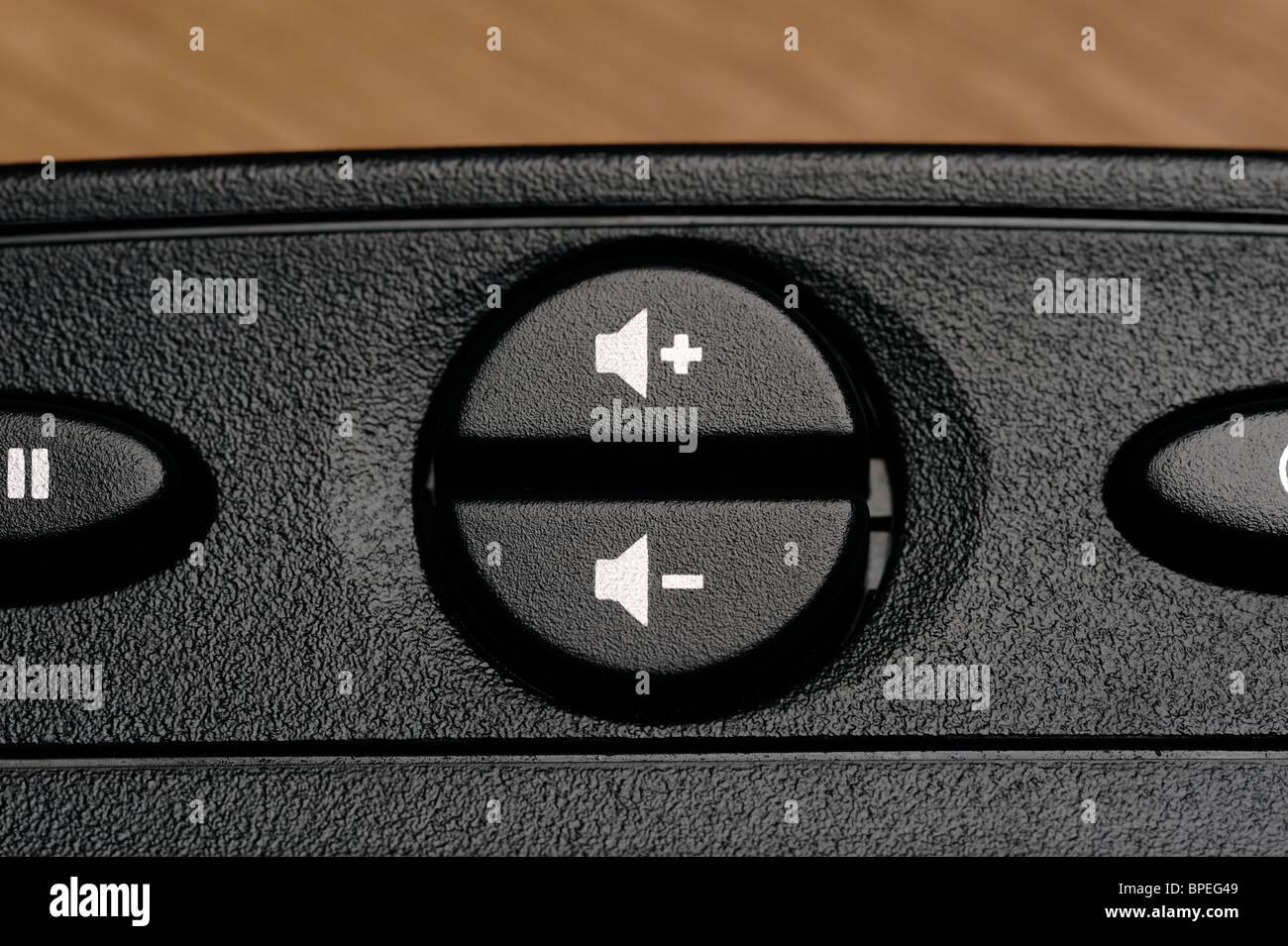 Tastiera per computer altoparlante controlli di volume Immagini Stock