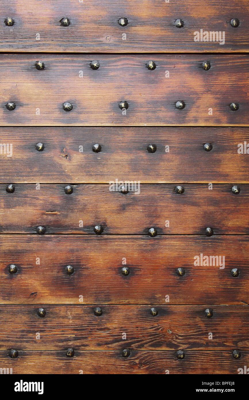 Porta in legno Immagini Stock