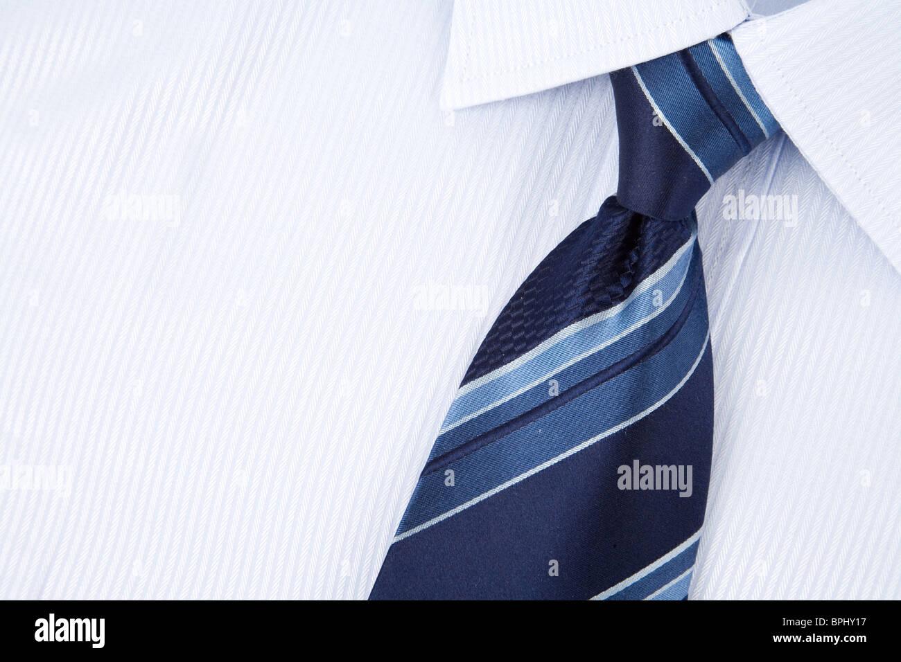 Camicia e cravatta close up shot Immagini Stock