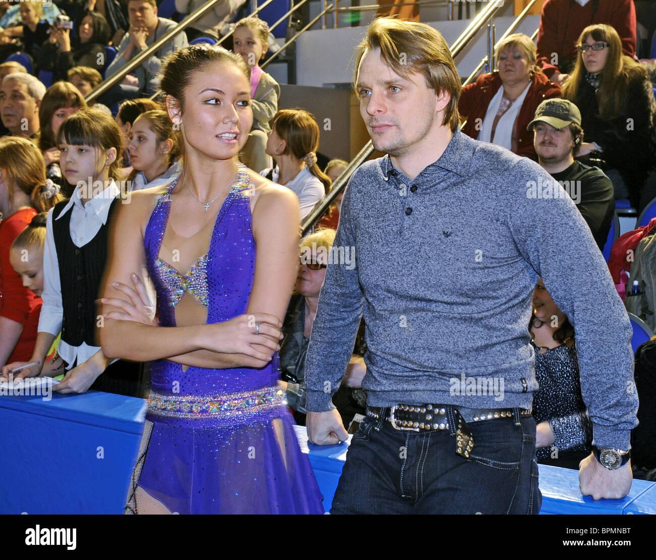 Lyaisan Utyasheva apre la scuola di ginnastica ritmica Foto Stock