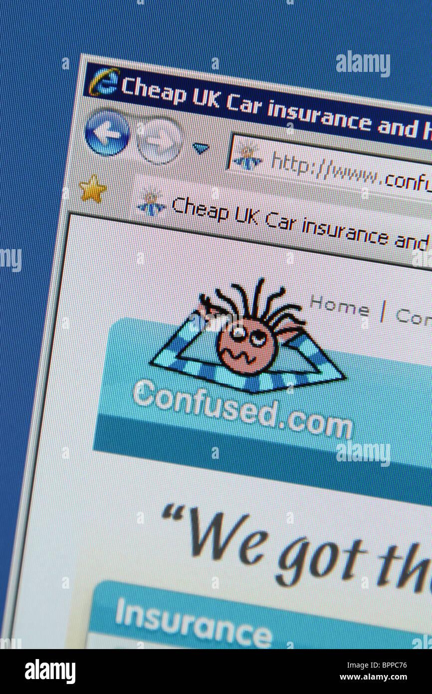 Confused.com a buon mercato auto di assicurazione domestica Immagini Stock