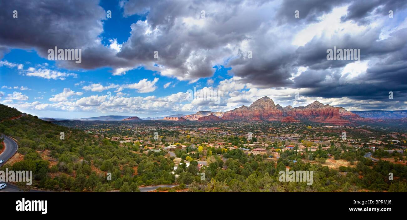 Una vista dall'aeroporto vortex in Sedona in Arizona Immagini Stock