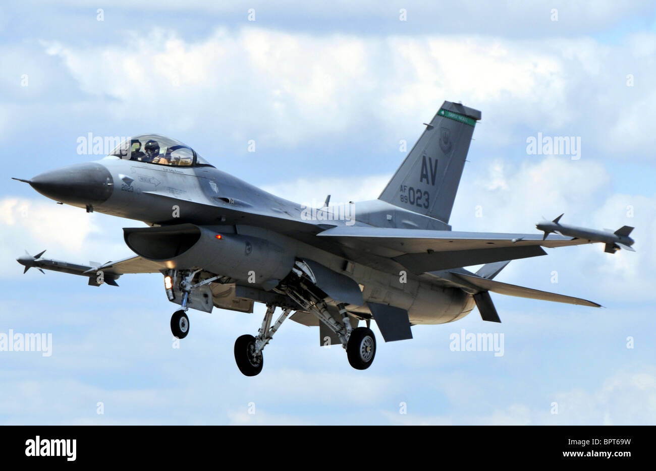 Lockheed F-16C Falcon jet fighter, F16, F-16 Immagini Stock