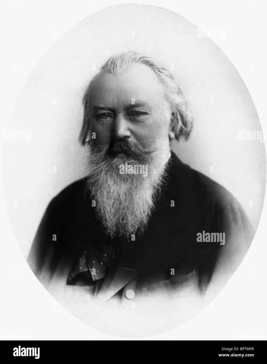 JOHANNES BRAHMS Compositore (1880) Immagini Stock