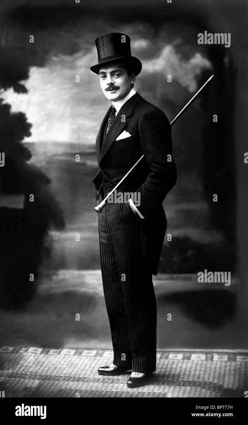 MAX LINDER film muto attore (1910) Immagini Stock