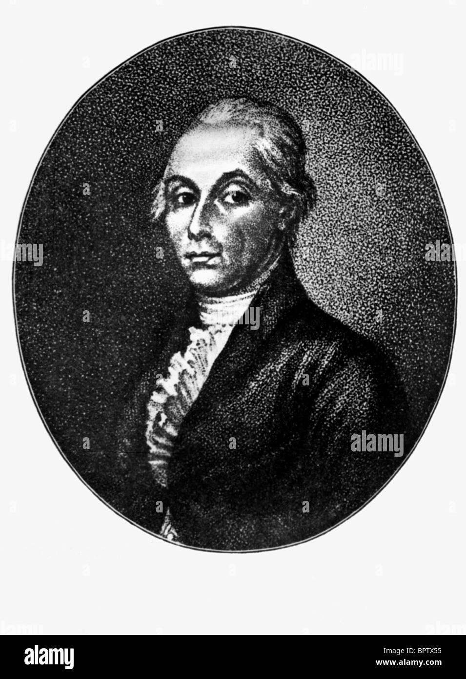 ALEXANDER RADISCHTSCHEW scrittore (1800) Immagini Stock
