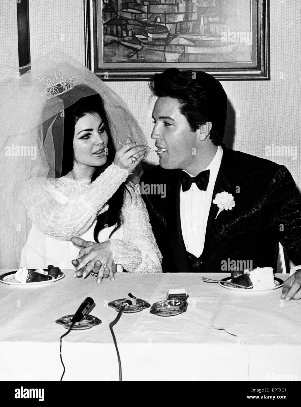 PRICILLA PRESLEY & ELVIS PRESLEY moglie e marito (1967) Foto Stock