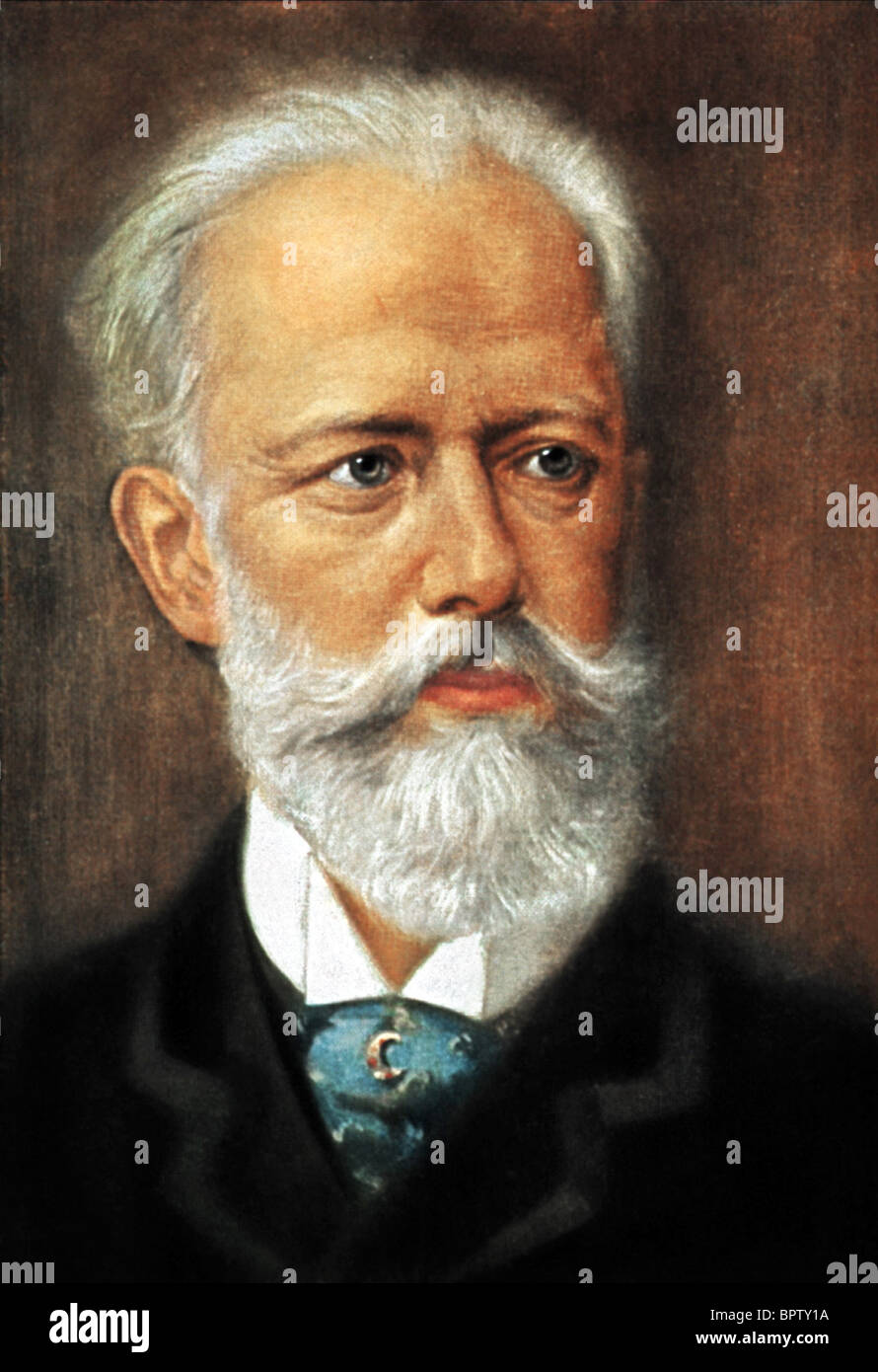 PYOTR ILYICH TCHAIKOVSKY Compositore (1880) Immagini Stock