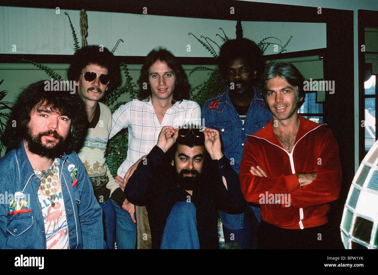 Raro uccello del gruppo rock (1977) Immagini Stock