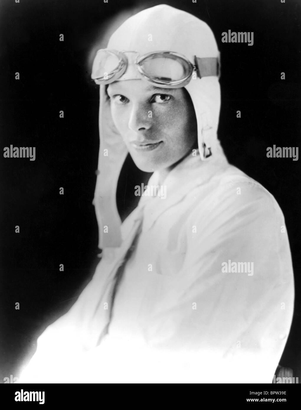 AMELIA EARHART PILOT 01 Maggio 1930 Immagini Stock
