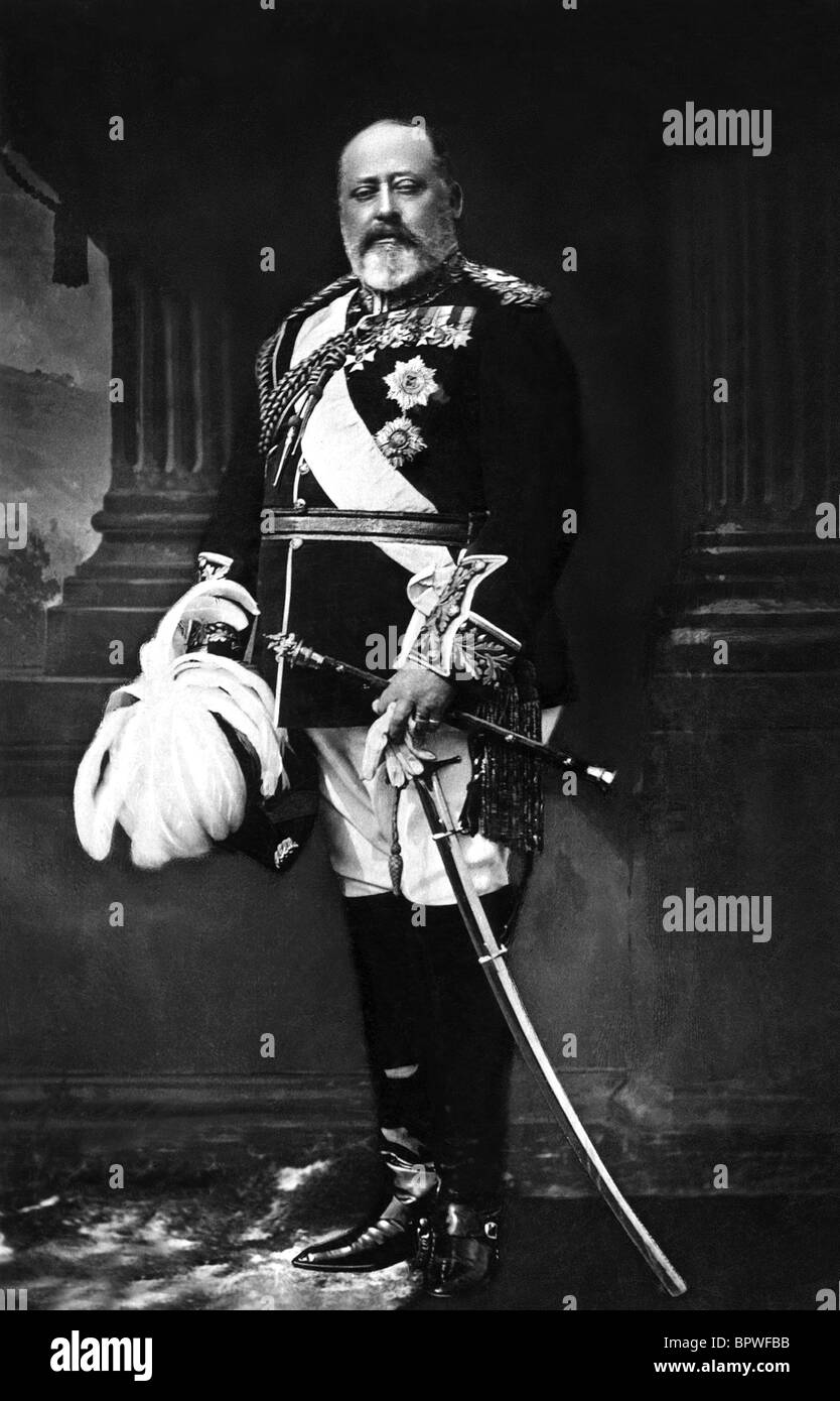Il re Edoardo VII re d'Inghilterra 1901 - 1910 10 Giugno 1902 Immagini Stock