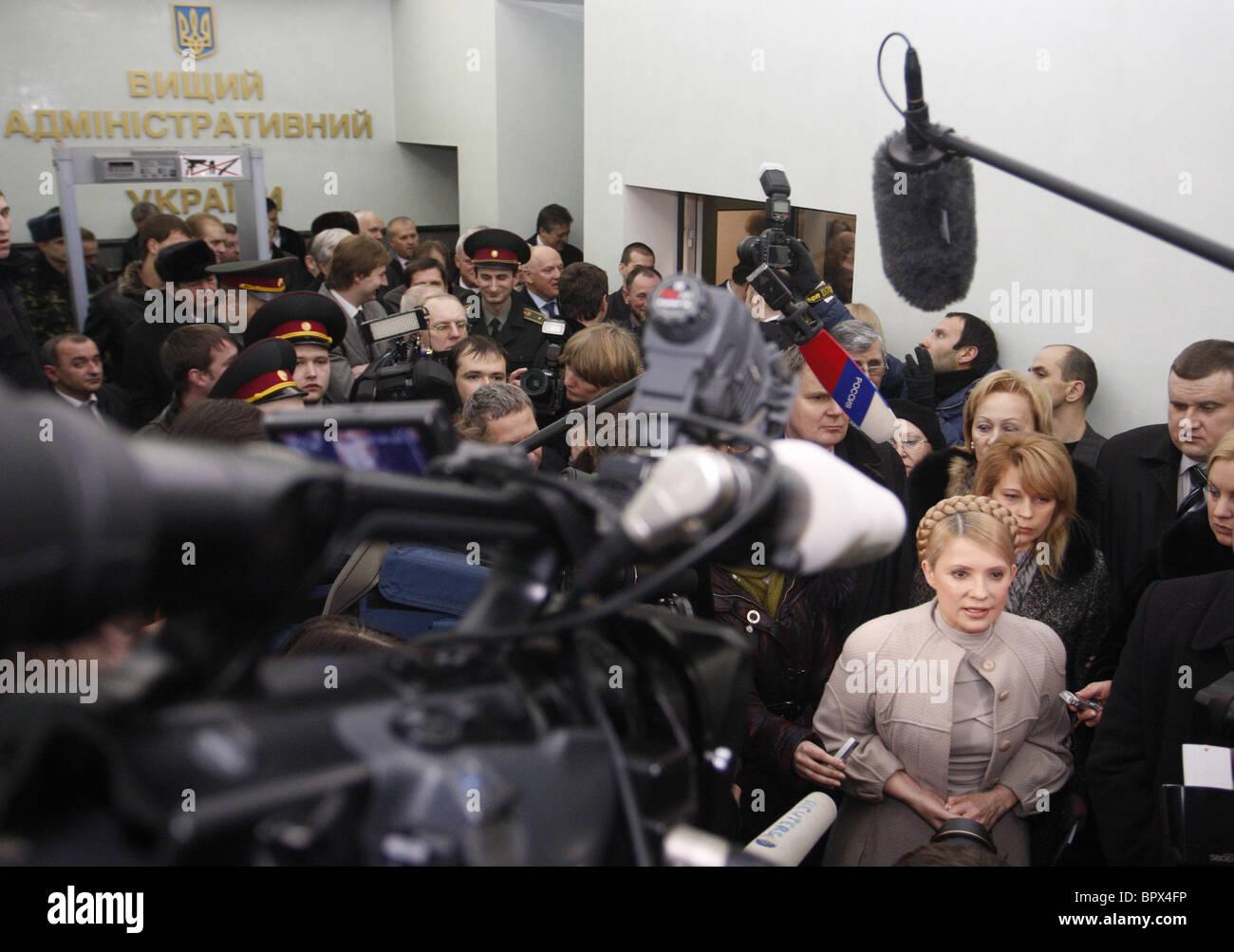 Tymoshenko sfide Ucraina elezioni presidenziali risultato in tribunale Foto Stock