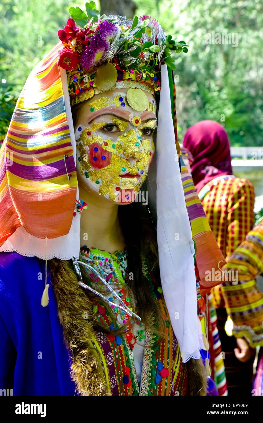 """'Draginovska nozze"""" dal villaggio Draginovo rituale tradizionale a partire dalla metà del XIX secolo Immagini Stock"""