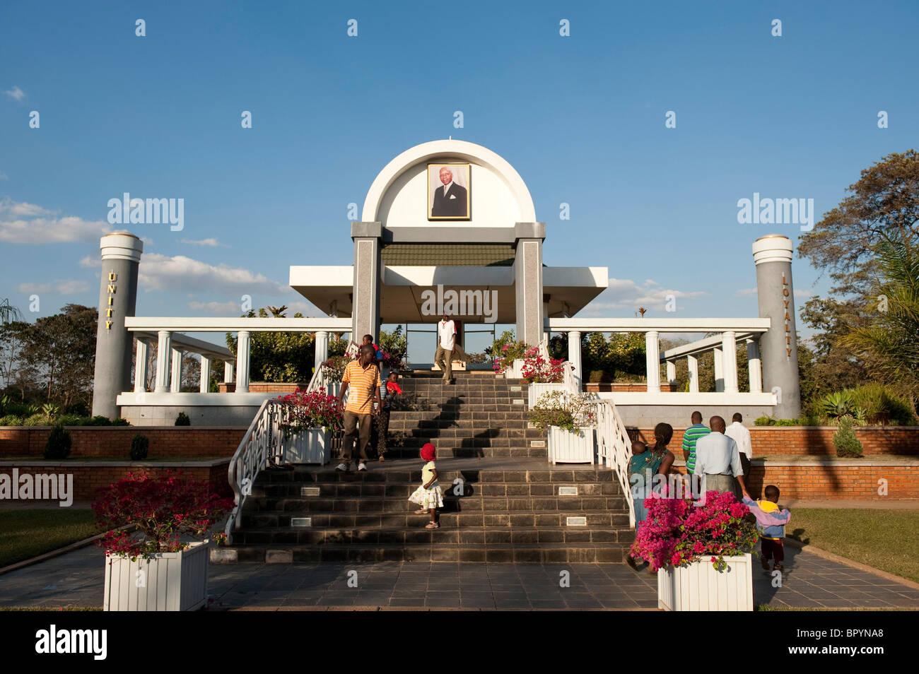Mausoleo a lui DR Hastings Kamuzu Banda, Lilongwe, Malawi Immagini Stock