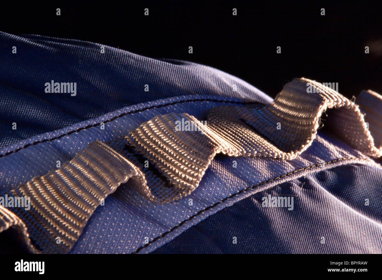Close up / dettaglio di uno zaino. Immagini Stock