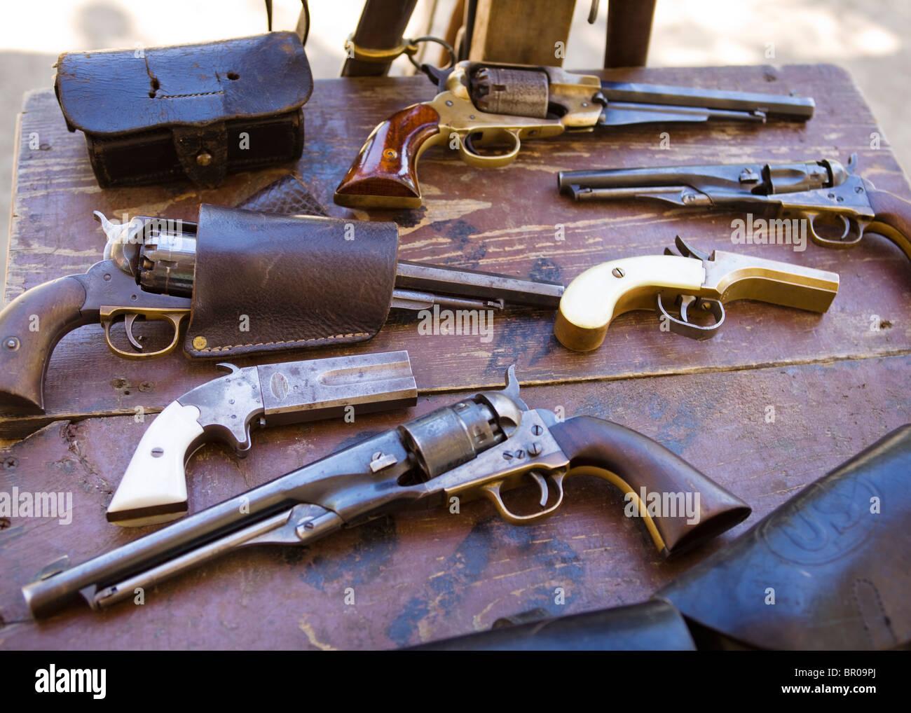 La guerra civile americana pistole Immagini Stock