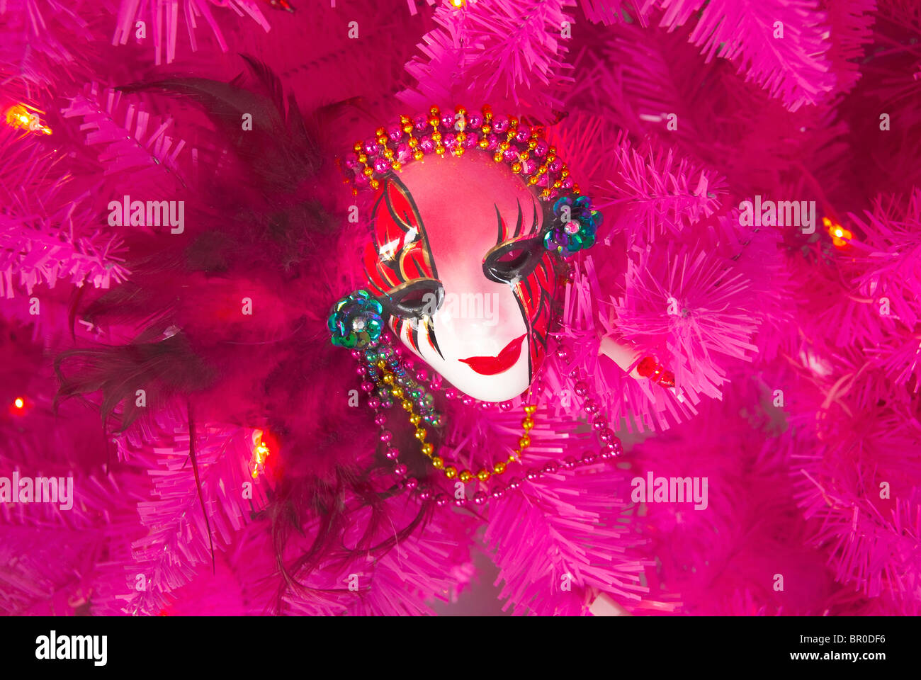 Mardi Gras mask a New Orleans, Louisiana, Stati Uniti d'America Immagini Stock