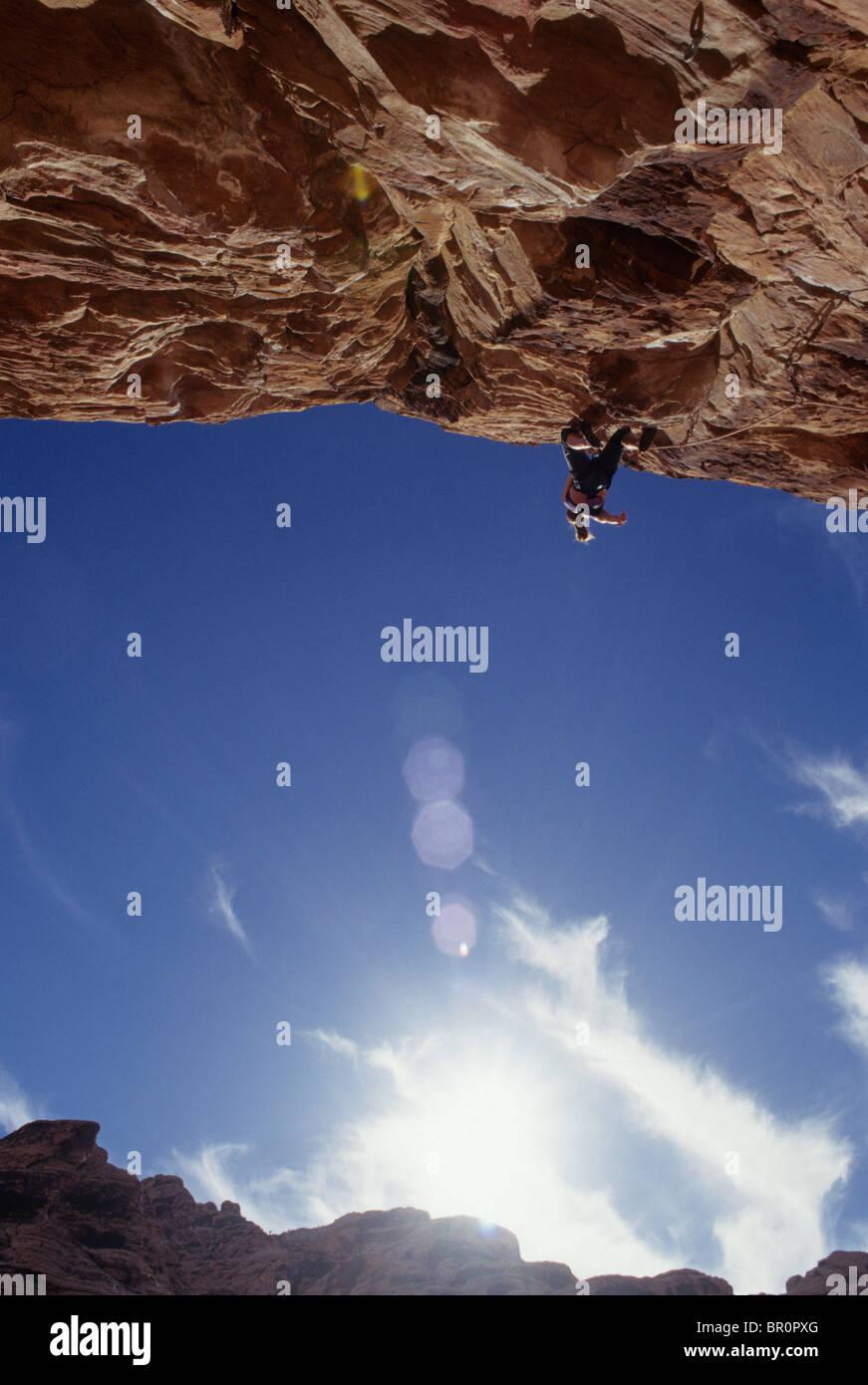 Scalatore. Red Rocks, Las Vegas, Nevada, USA. Immagini Stock